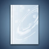 Metal blue folder template hi-tech element Stock Image