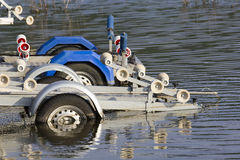 A metal boat trailer Stock Images