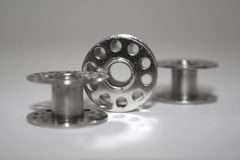 Metal bobbins Royalty Free Stock Images