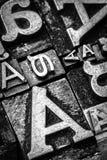 Metal bokstäver royaltyfri foto