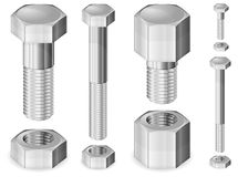 Metal Bolt and Nut Stock Photos