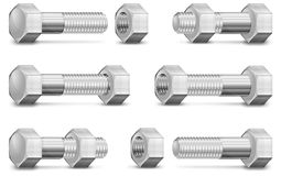 Metal Bolt and Nut Stock Images