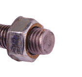 metal bolt with a nut Royalty Free Stock Photography