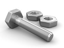 Metal bolts Stock Photography