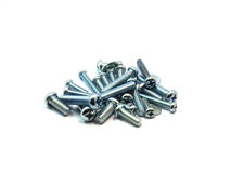 Metal bolts on isolated Royalty Free Stock Photo