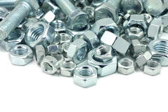 Metal bolts and nuts Stock Images