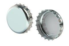 Metal bottle cap, 3D rendering Stock Images