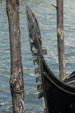 The metal bow (ferro) of the gondola of venice Stock Photography