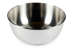 Metal bowl Royalty Free Stock Images