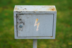 Metal box with Royalty Free Stock Photo