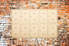 Metal boxes of gas meter Stock Photos