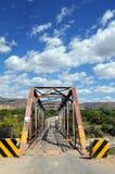 Metal Brücke in Cajabamba, Peru Stockbild