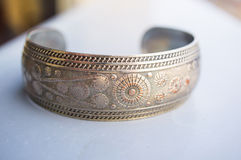 Metal bracelet Stock Photos