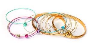 Metal bracelets Stock Photos