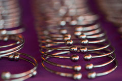 Metal bracelets Stock Photography