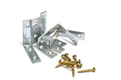 metal bracket and screws Stock Photography