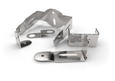 Metal brackets Stock Photo