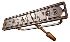 Metal Branding Brand Perspective Stock Photos