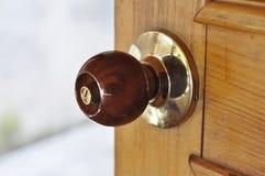 Metal Brass Door Knob Wood Royalty Free Stock Photos