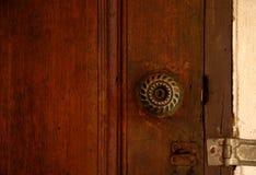 Metal brass door knob Stock Photo