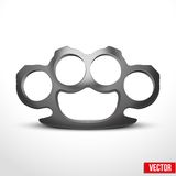 Metal Brassknuckles vector illustration Stock Photography