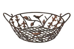 Metal breadbasket Royalty Free Stock Photos