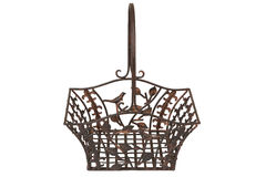 Metal breadbasket Royalty Free Stock Image