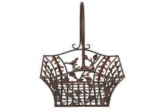 Metal breadbasket Royalty Free Stock Image