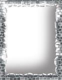 Metal Brick Frame. A digitally made frame background Royalty Free Illustration