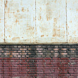 Metal and brick texture. Background Retro vintage white and red royalty free stock images