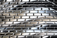 Metal bricks Stock Images