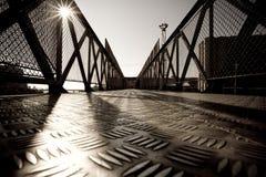 Metal bridge. Industrial bridge made from metal Royalty Free Stock Photos