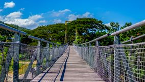 Tamparuli bridge in sabah with the clear blue sky stock images