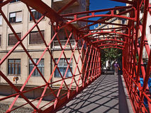 Metal bridge in Gerona Stock Photos