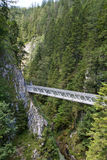 Metal bridge inside the Leutasch Gorge in Bavaria Stock Images