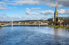 Metal Bridge in Inverness, Scotland Royalty Free Stock Image