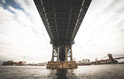 Metal Bridge Low Angle Photography Royalty Free Stock Images