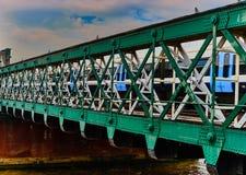 Metal bridge. Over river thames Stock Images