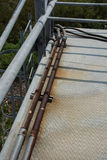 Metal bridge overpass. Old Metal bridge overpass construction Stock Photography