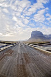 Metal bridge on Ring road Iceland Royalty Free Stock Photo
