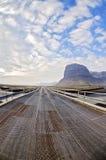 Metal bridge on Ring road Iceland Royalty Free Stock Photo