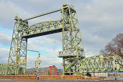 Metal bridge in rotterdam Stock Photos