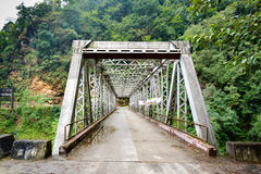Metal bridge in Sikkim, India Royalty Free Stock Photos