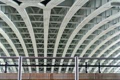 Metal bridge structure Royalty Free Stock Photo