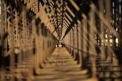 Metal bridge train Royalty Free Stock Photos