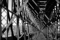 Metal bridge train Royalty Free Stock Photography