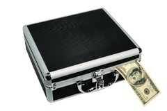 Metal Briefcase Royalty Free Stock Photo