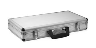 Metal briefcase Stock Photos