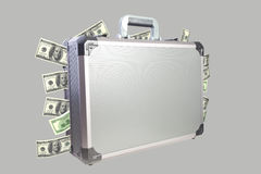 Metal briefcase Royalty Free Stock Photos