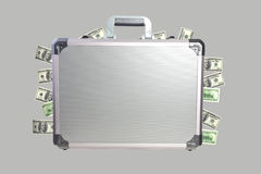 Metal briefcase Royalty Free Stock Image